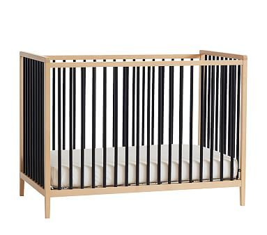 Knox Convertible Crib Natual Black In Home Delivery