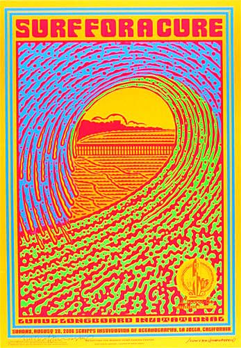 Photo of John Van Hamersveld Surf For A Cure Poster