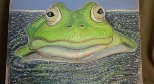 """Résultat de recherche d'images pour """"dessin peinture tableau grenouille"""""""
