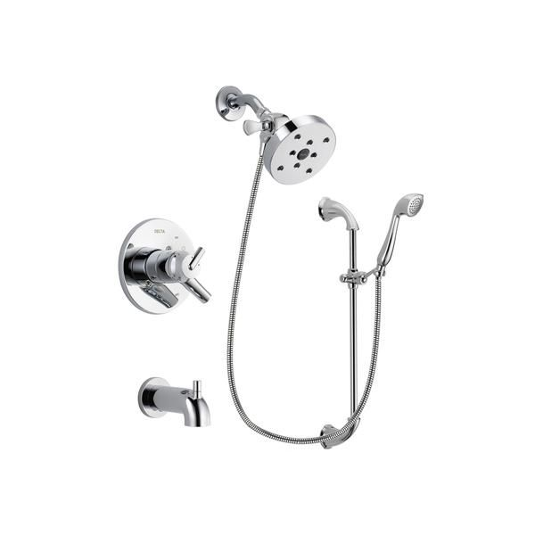 Delta Trinsic Chrome Tub And Shower Faucet System With Hand Shower