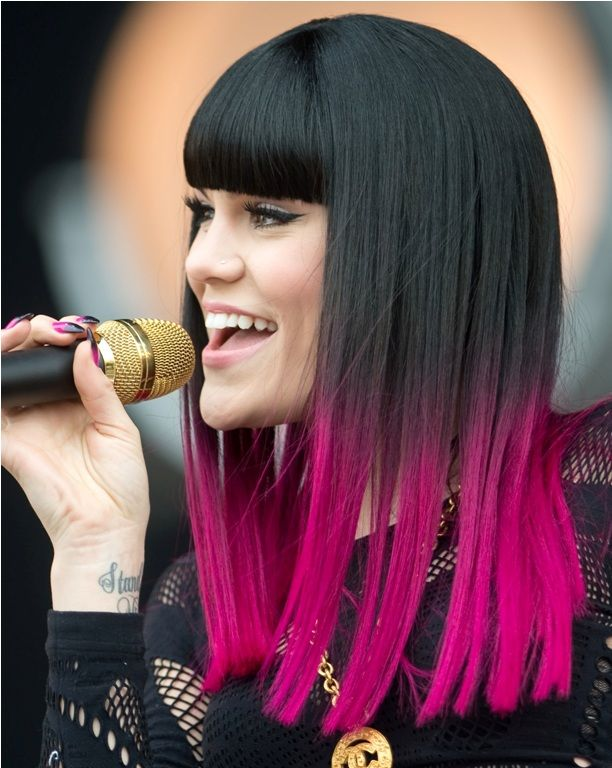 Black Hair With Hot Pink Tips Hair Styles Vivid Hair Color Womens Hairstyles
