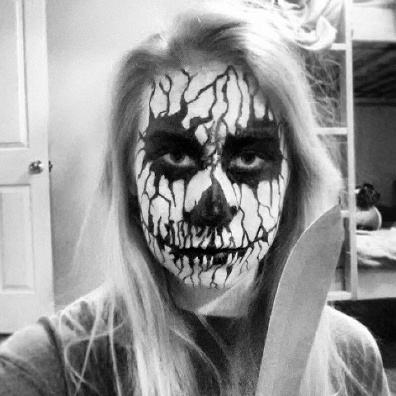 """""""You better run"""" #makeup #halloween #facepaint #horror"""