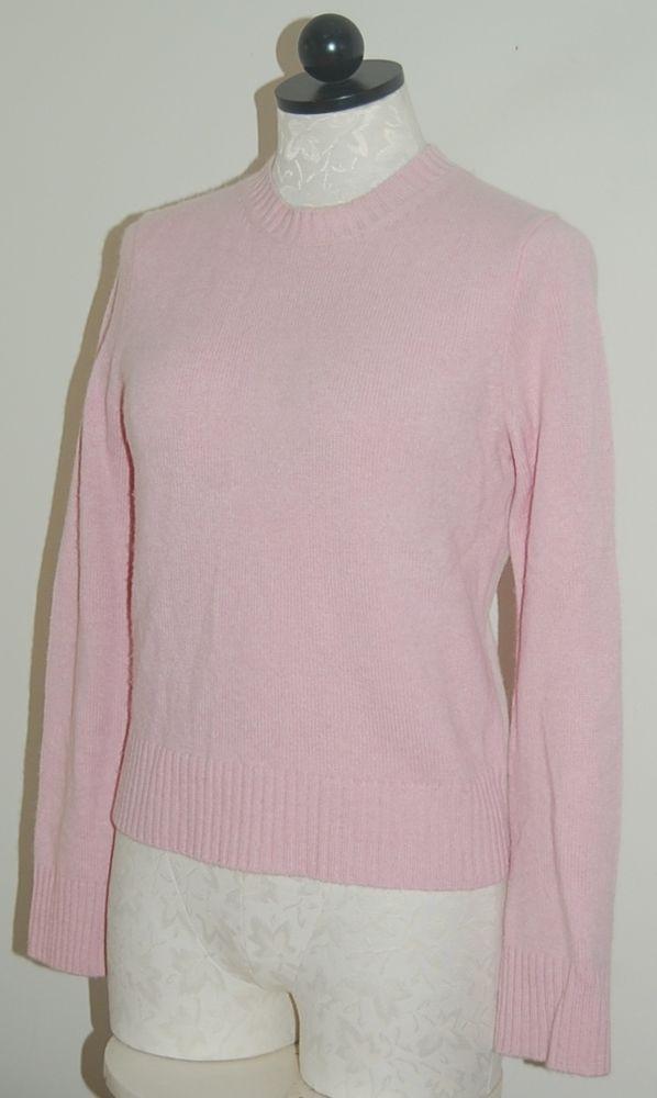 J CREW Woman's 100% Cashmere Pink Crewneck Sweater S #JCREW #Crewneck