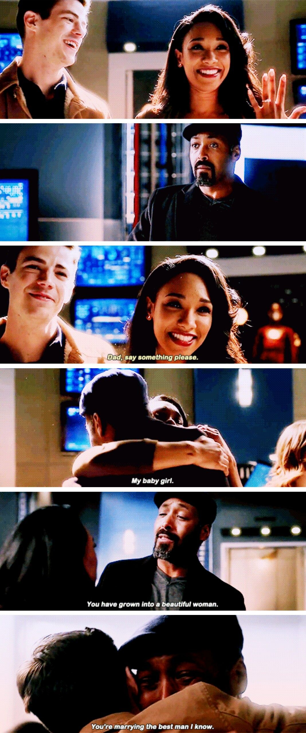"""""""You're marrying the best man I know"""" Joe, Iris and"""