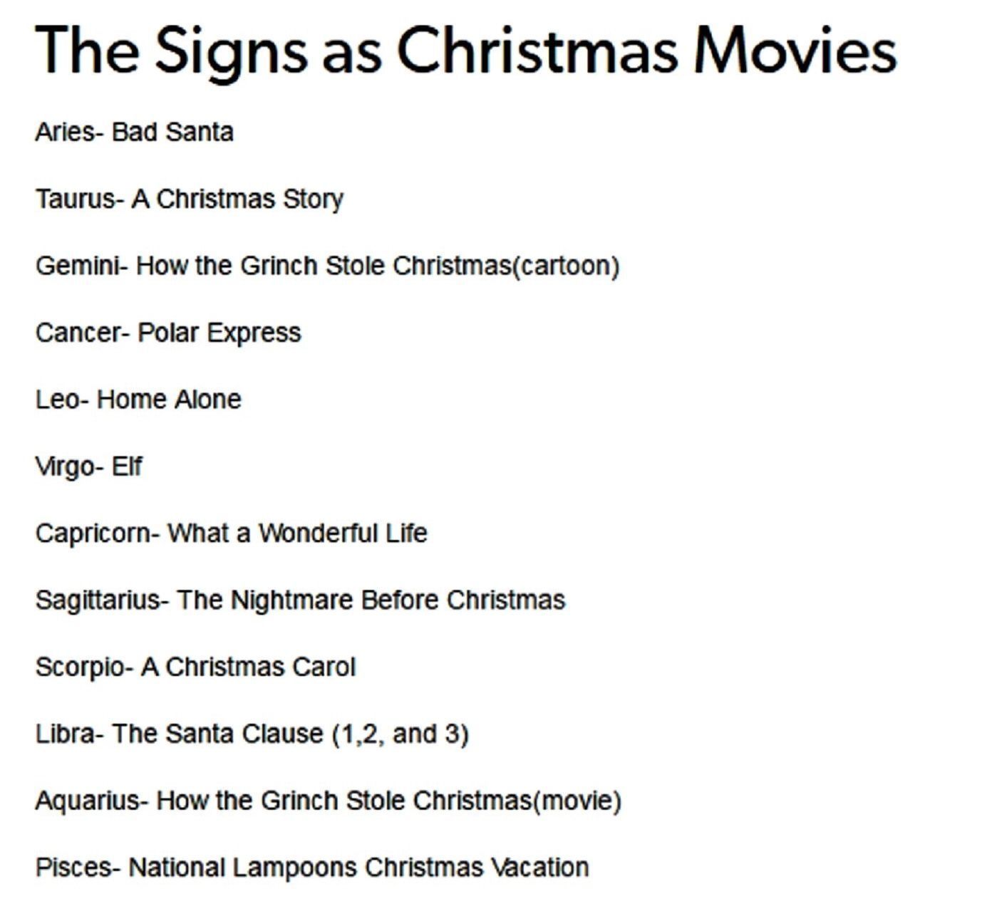 The Signs As Christmas Movie Zodiac Gemini Be Like Grinch Horoscopesdates Horoscopesigns Zodiac Signs Zodiac Sagittarius Zodiac Meanings