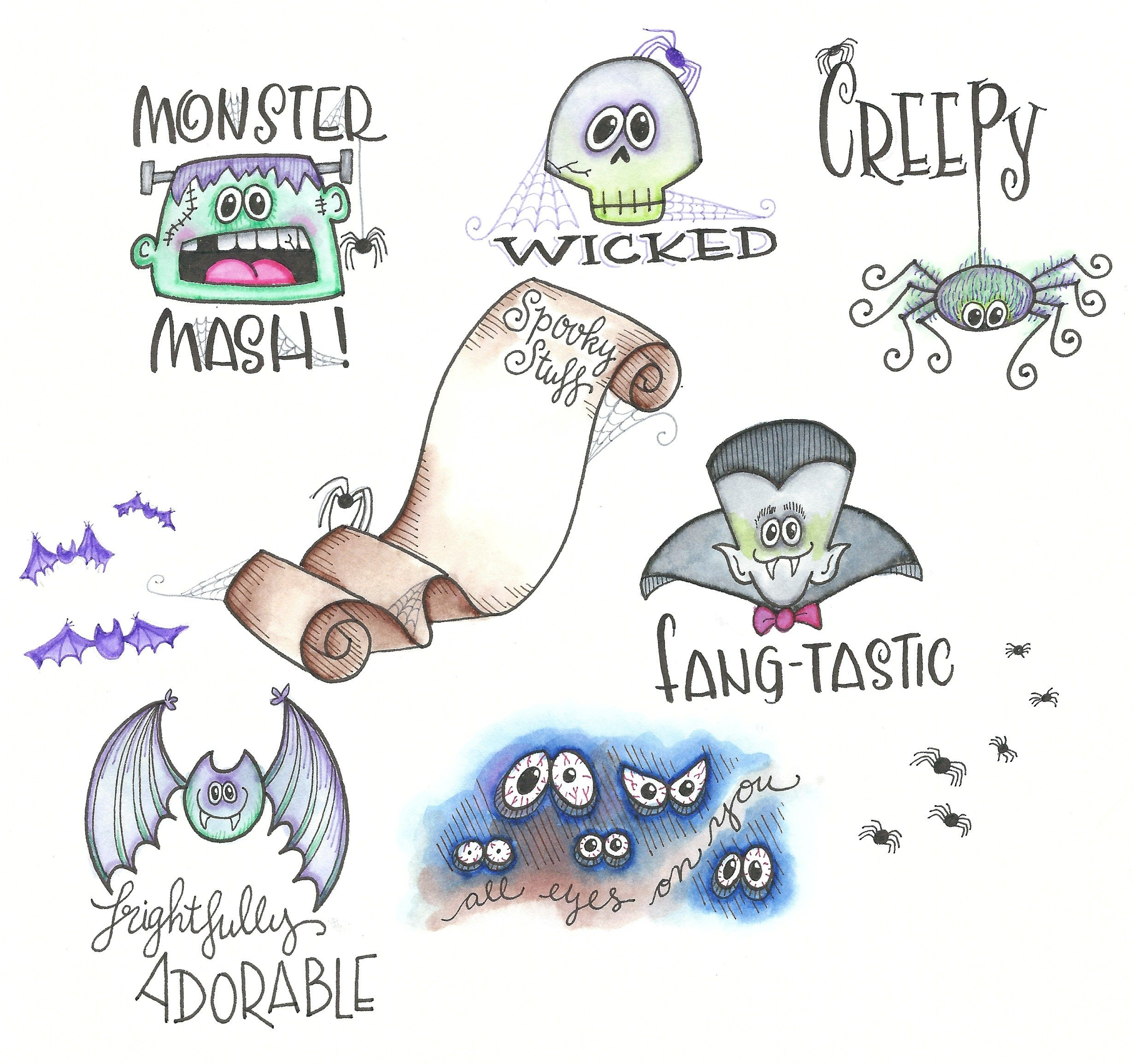 Halloween Doodles in 5 Easy Steps Halloween doodle