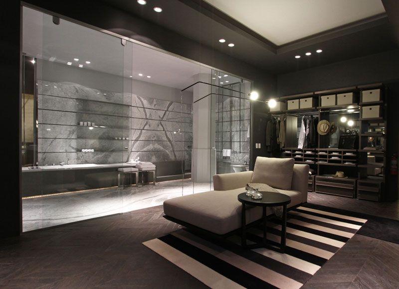 Baño con vestidor integrado #Baño #Moderno #vestidor # ...
