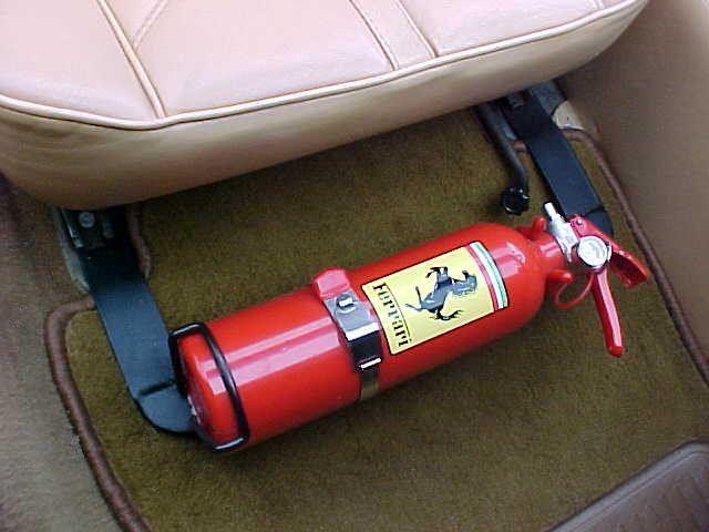 Ferrari fire extinguisher