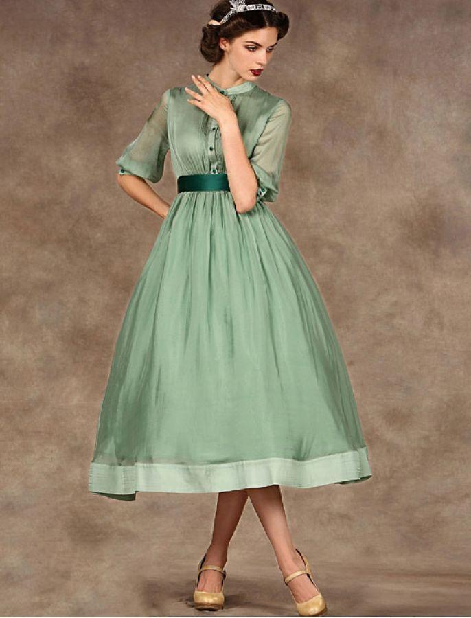 Audrey Hepburn Style 1950s Vintage Dress