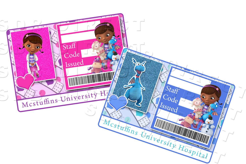 Doc Mcstuffins Digital Doctor S Name Tag Badge Diy