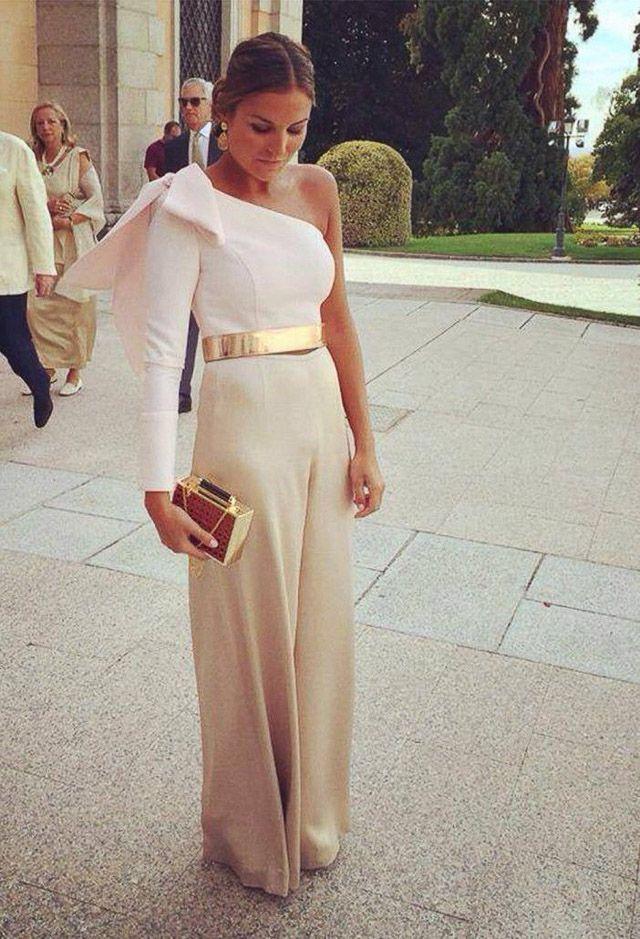 dcf8299e31 invitada boda blog pantalón pantalones palazzo culotte look wedding ...