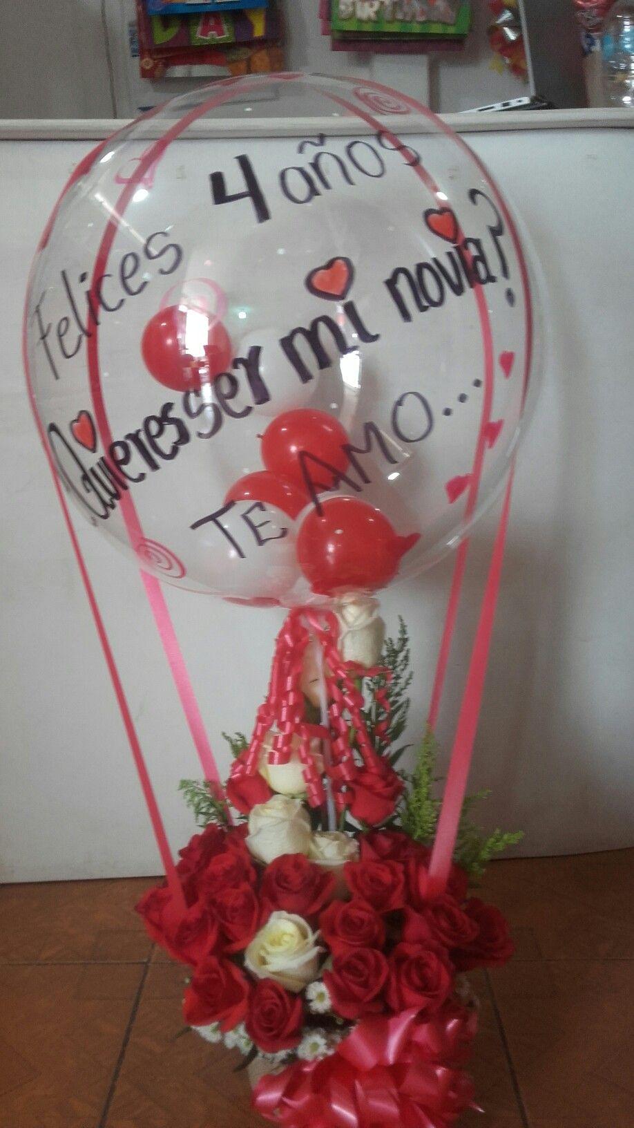 Arreglo Floral Globo Burbuja Decoraciones Amore