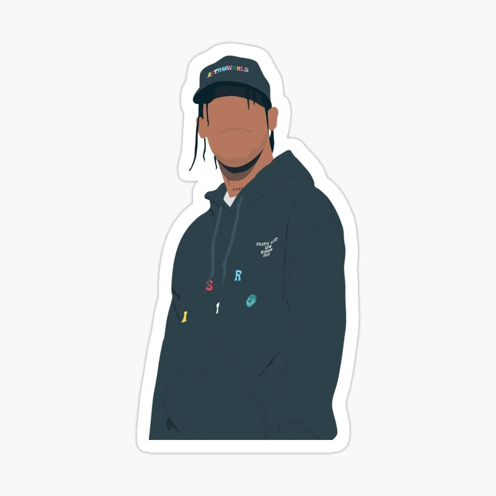 Pin By Aenl On Stickers Travis Scott Stickers Brand Stickers [ 1000 x 1000 Pixel ]