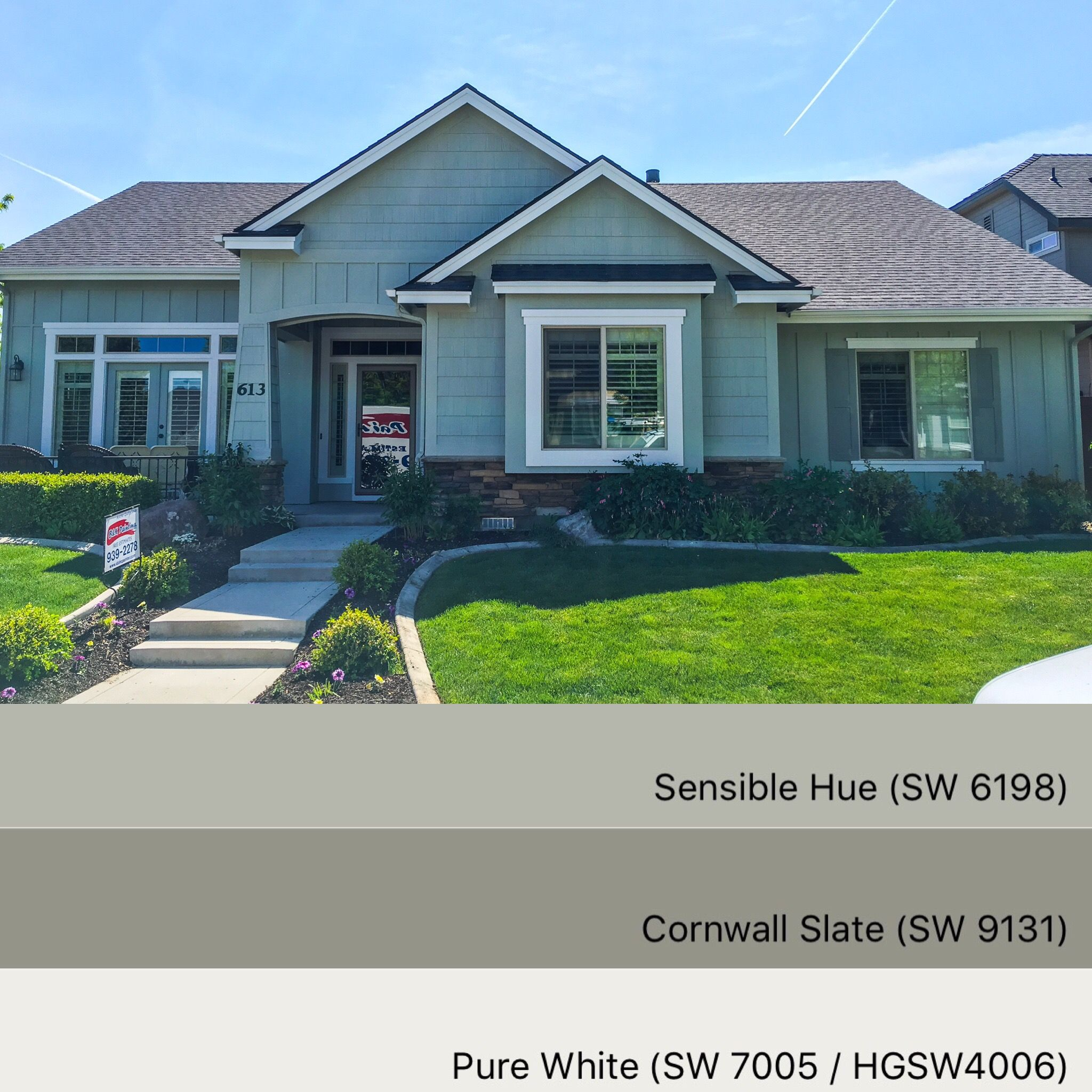 sherwin williams paint colors: sensible hue 6198, cornwall slate