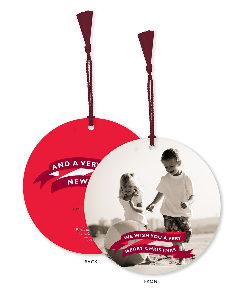 Holiday Cards Banner Message Photo Ornament Holiday Card Ornament