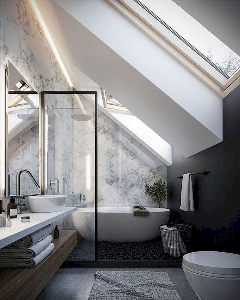 60 Admirable Attic Bathroom Makeover Design Ideas Bathroom Design Elegant Bathroom Bathroom Layout