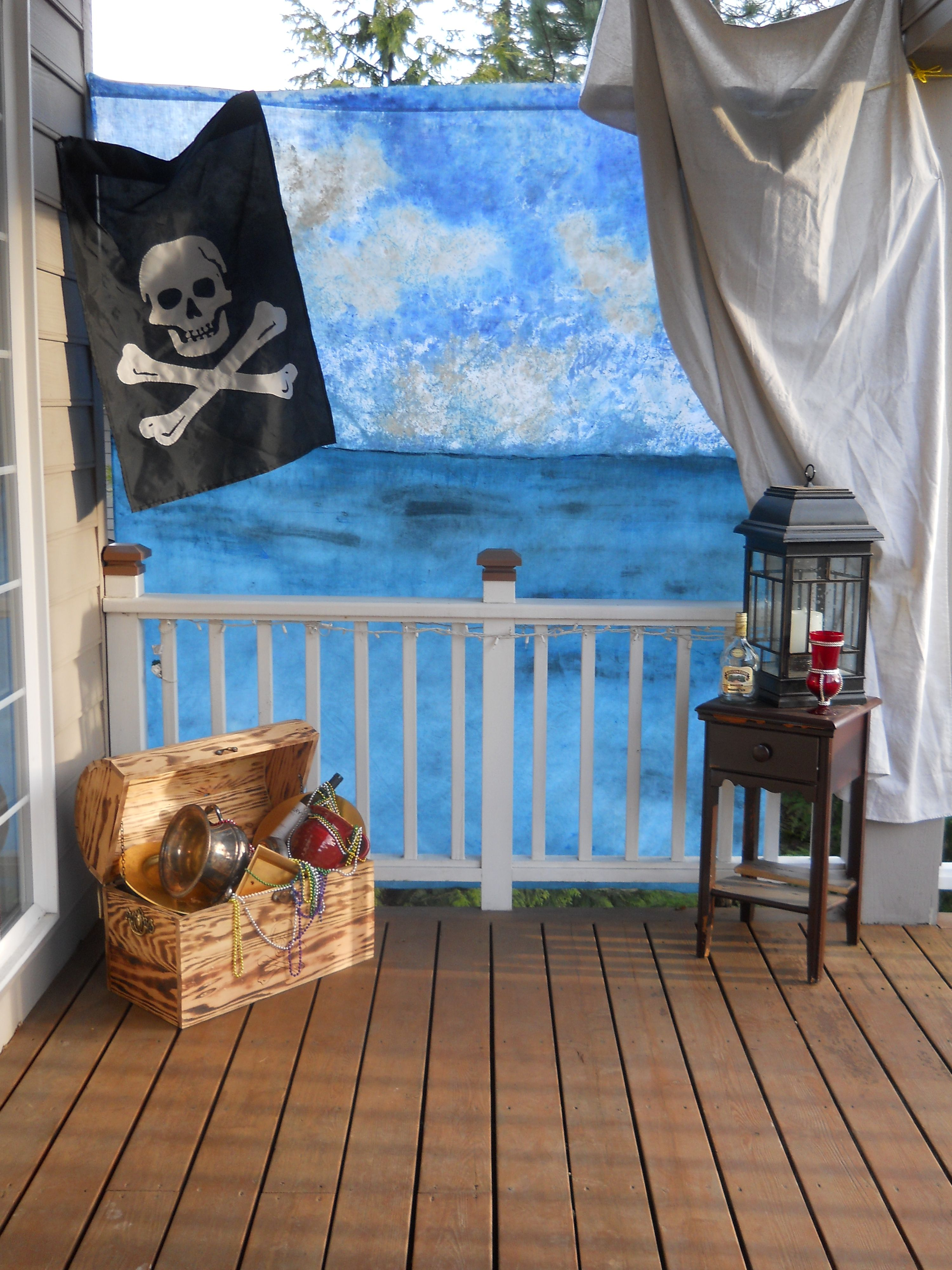 7x7FT Vinyl Photography Backdrop,Pirate,Shark Cove Tortuga Island Photoshoot Props Photo Background Studio Prop