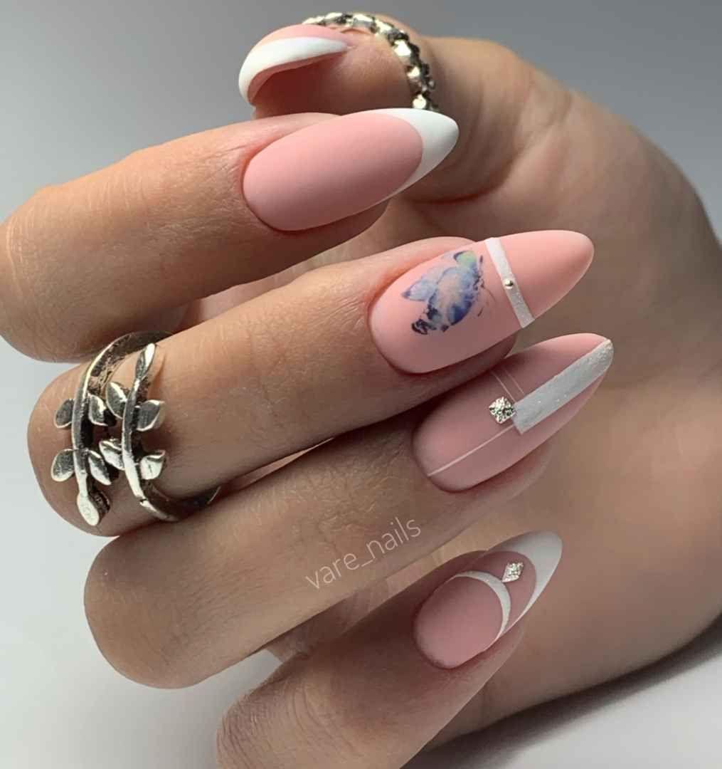 Маникюр для офиса 2020 фото_5 | Романтичные ногти, Кружева ...