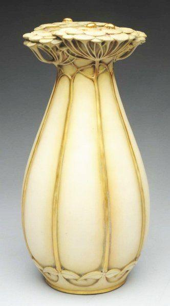 97 Paul Dachsel Ceramic Ladybug Vase On Art Glass Pinterest
