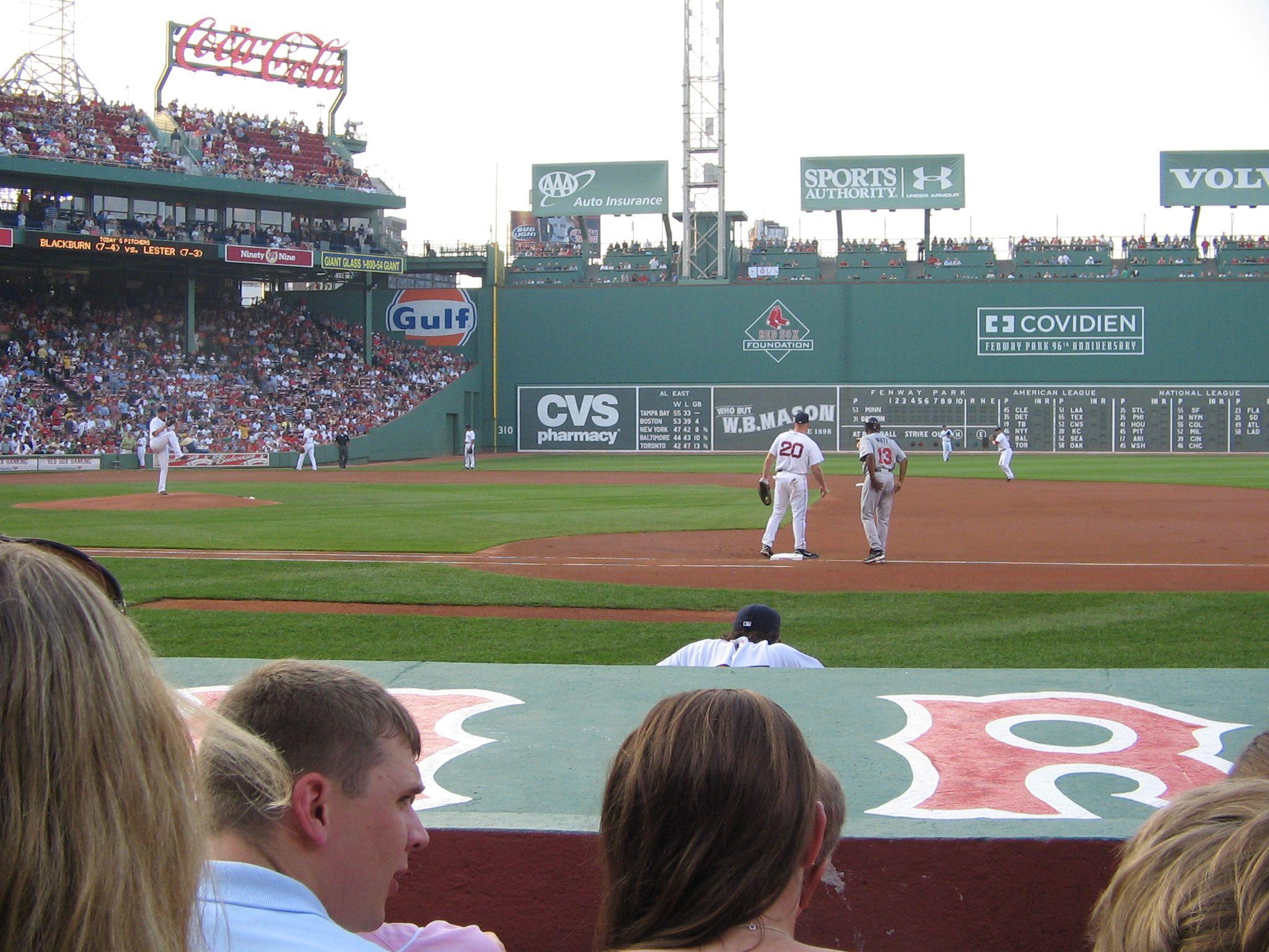 Boston RedSox Dugoutseats Firstbase seats