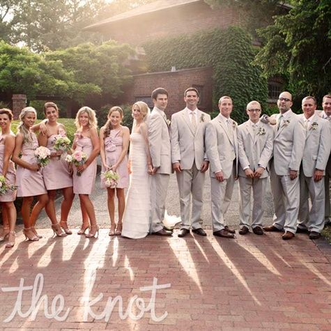 To play up the outdoor garden aesthetic, the bridal party ...