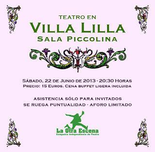 Noche y Día Gran Canaria: Teatro - 22/06: Triple sesión teatral en Villa Lilla / Firgas