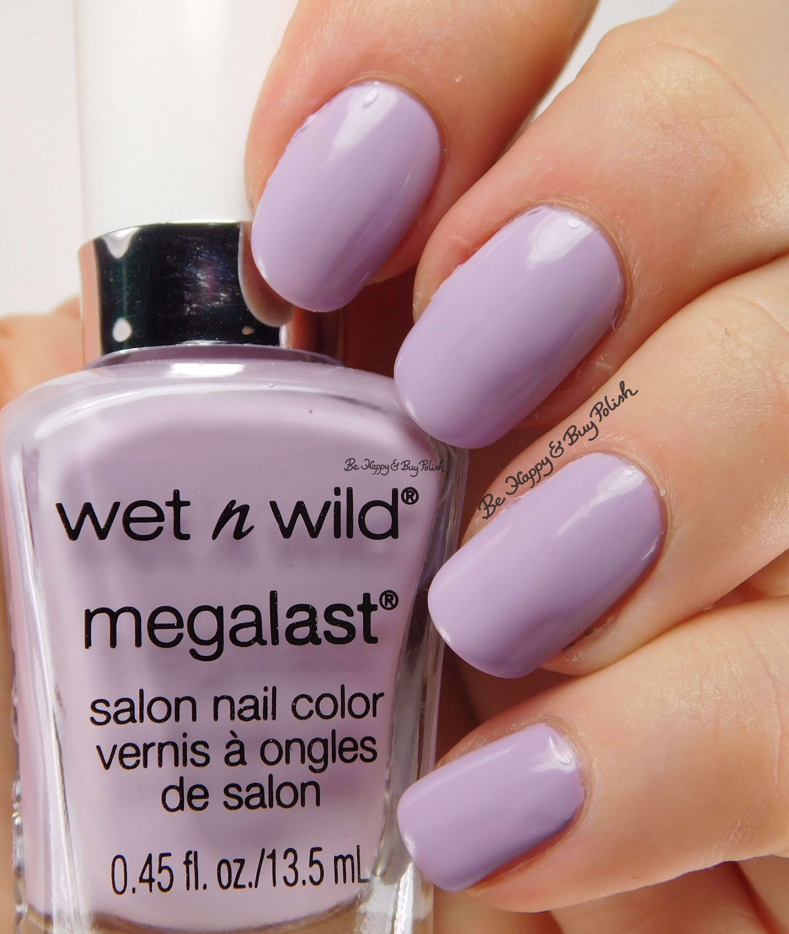 Wet N Wild Spring Into The Nail Polish Swatches Review Plus Megalast Salon Color Candylicious Lay Out In Lavender Be Happy And