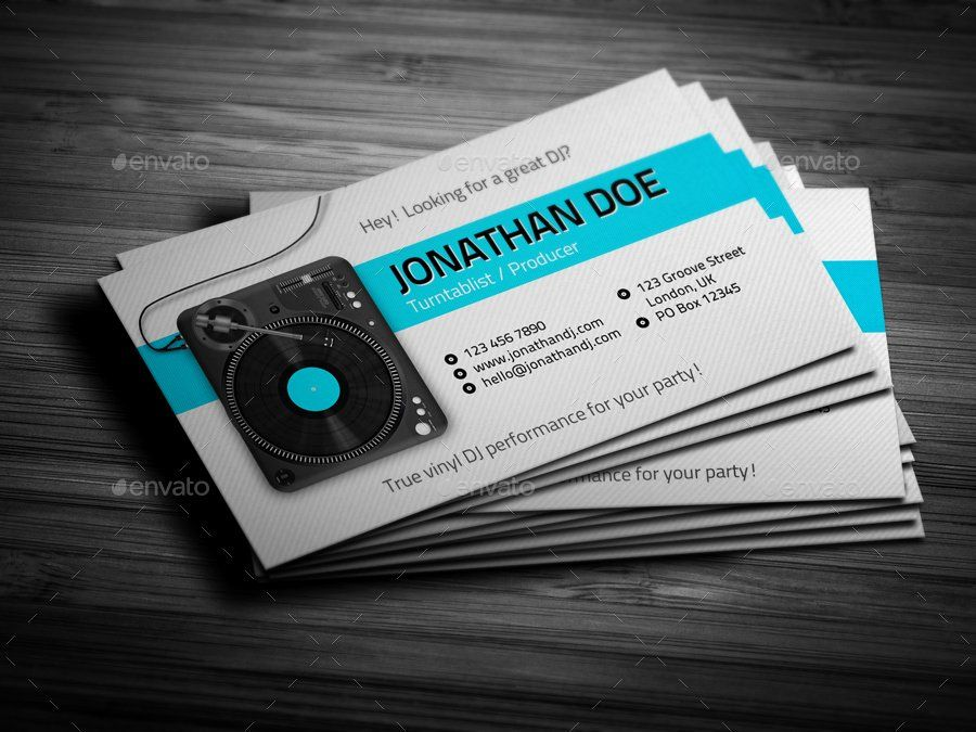 Dj Business Card Template Inspirational Turntablist Dj Business Card By Vinylj Free Business Card Templates Glossy Business Cards Business Card Template Design