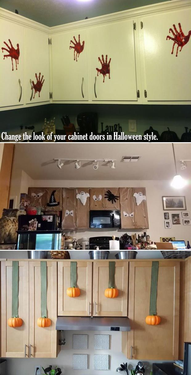 15 Cool Ideas to Decorate a Spooky Halloween Kitchen in 2018