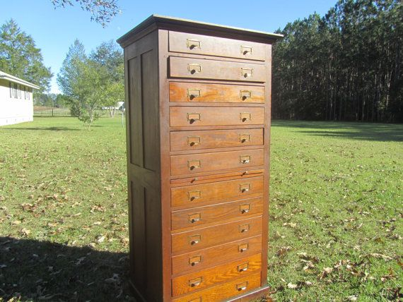 Antique Dental Cabinet, Apothecary Cabinet,Tell City Desk Company, Oak  Dental Cabinet, Twelve Drawer Cabinet By KarensChicNShabby On Etsy