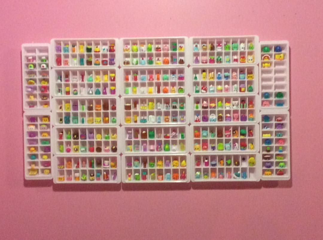 This Is My Display Case We Used Ice Cube Trays Shopkins Shopkinlover104 Organizations