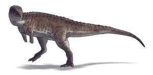 Eoabelisaurus mefi by Paleocolour #prehistoriccreatures