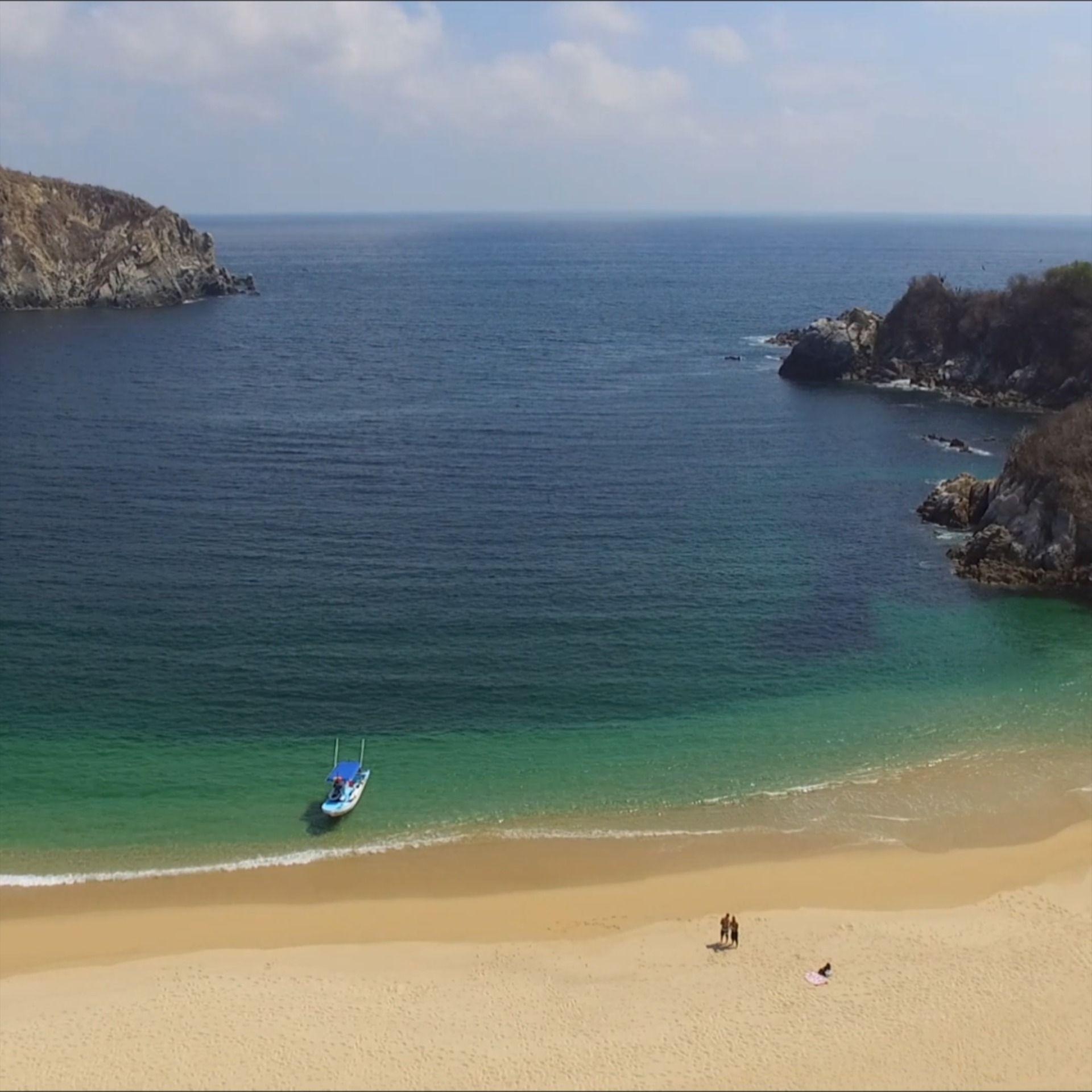 Cacaluta es considerada por algunos como la más bella de las bahías en Oaxaca.