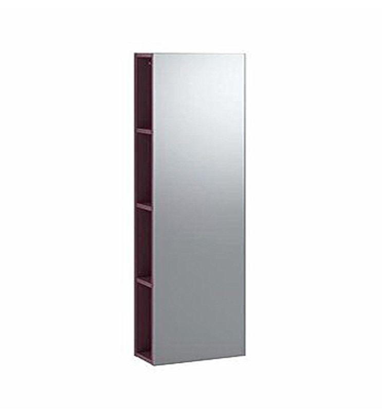 KERAMAG ICON - SPIEGEL MIT REGAL 28x120x14 CM BURGUND GLÄNZEND - spiegel badezimmer mit beleuchtung