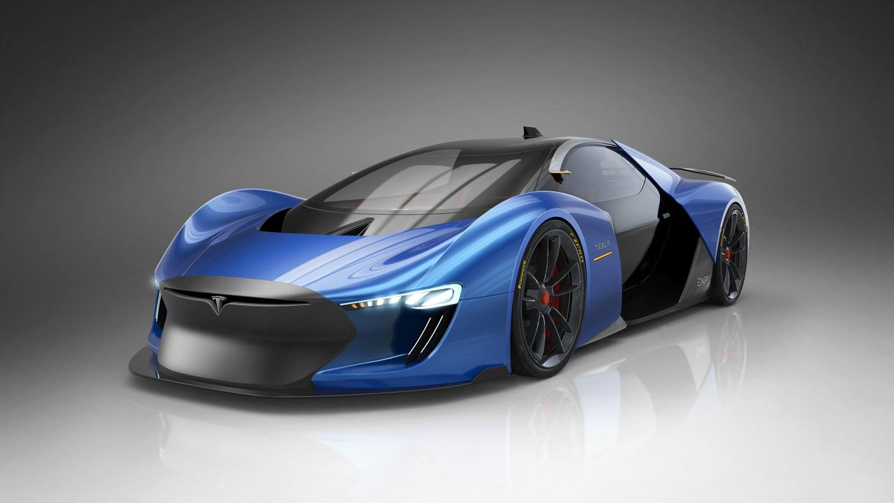 A Spanish Artist Decided To Render Experimental Tesla Exp Supercar The Experimental Tesla Supercar Has Been Rendered By Product And Tra Super Carros Tesla Auto