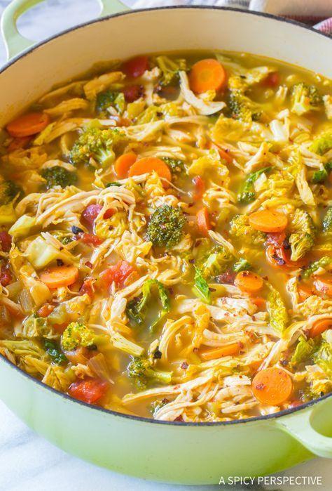 The Best Southwest Chicken Detox Soup Recipe In 2019 Chicken Soup Recipes Southwest Chicken