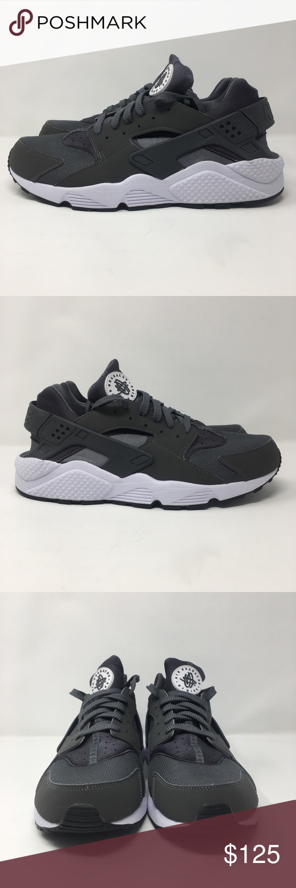 new concept 5cd33 a96ba Nike Air Huarache Mens Dark Grey Athletic Running This is a pair of You are  bidding