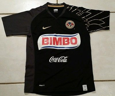 2fa49a118 Rare NIKE Club America Mexico BLACK Soccer Jersey Youth Medium ...