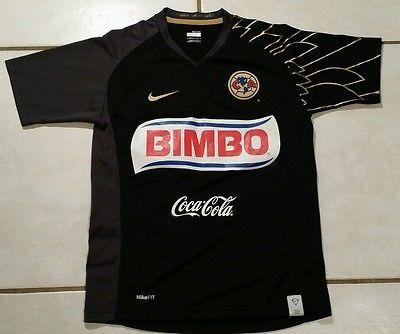 e31b2d3d092 Rare NIKE Club America Mexico BLACK Soccer Jersey Youth Medium ...