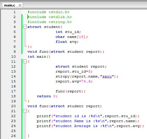Easy It Structure With Function In C Language Language Coding Map Screenshot