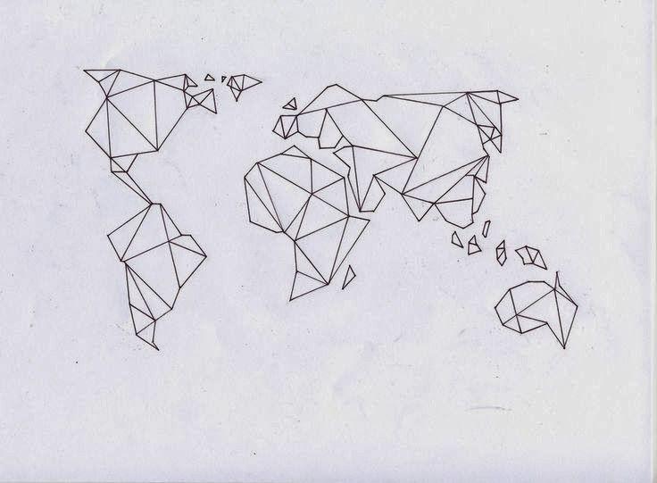 Carte Du Monde Origami.Idees De Tatouages Nouvelle Edition Tattoos Tatouage Dessin
