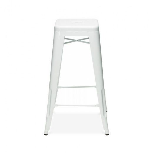 xavier pauchard tolix style metal bar stool white 65cm stools