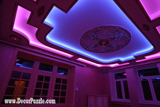 Best Ceiling Designs best creative kids room ceilings design ideas cool false ceiling of plaster board Colored Led Lights Strips Best Ceiling Design Ideas 2016