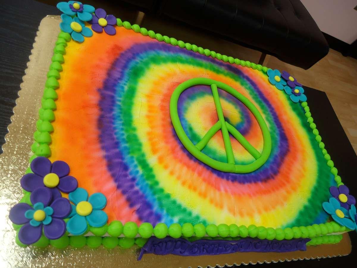 Tie Dye Birthday Cake Kedinmoore