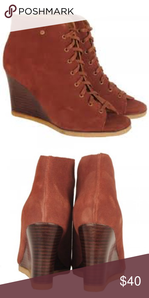 """b79dc8993e UGG Elyse Wedge Bootie These are the softest comfiest heels I ve ever  owned. """"Spice"""" color"""