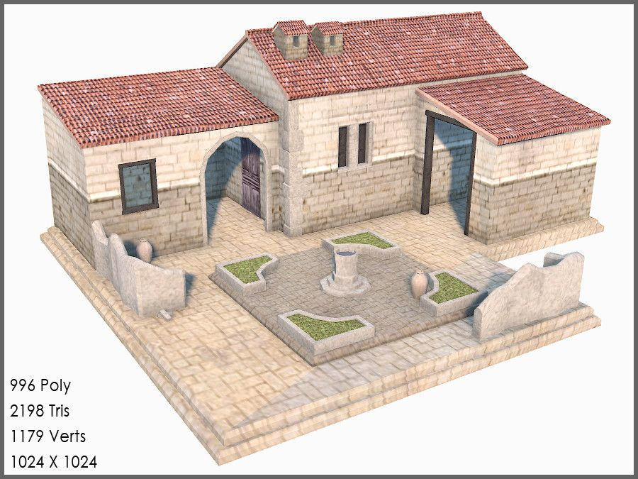 Classic greek roman house games 3d model project ideas for Projects of houses