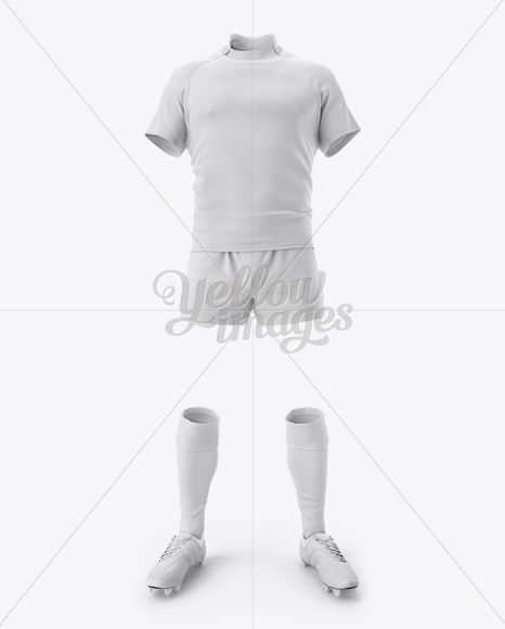 Download Download Mens Full Rugby Kit HQ Mockup - Front View PSD ...
