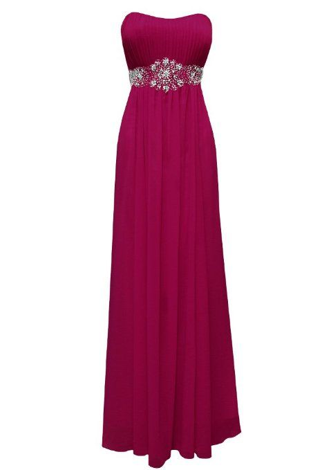Strapless Chiffon Goddess Long Gown Prom Dress Formal Bridesmaid