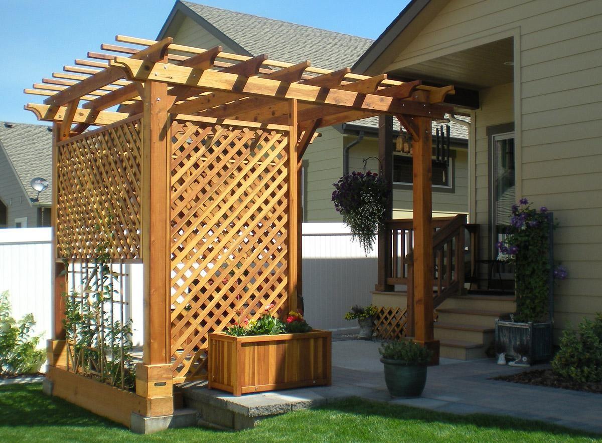 Wooden Garden Pergolas Pergola Wooden Garden Deck Designs Backyard