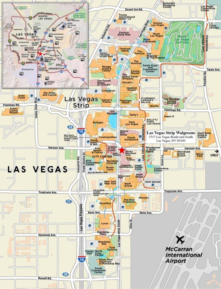 Las Vegas Map on